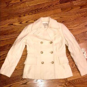 BANANA REPUBLiC - Cream Short Pea Coat